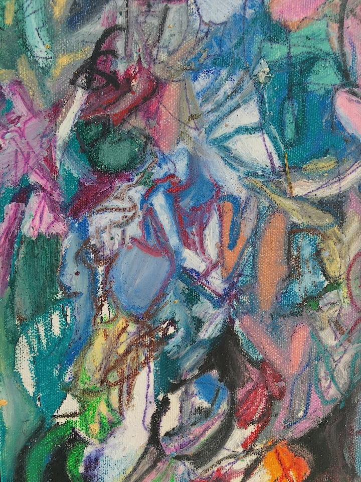 Pardon Me When The Kingdom Comes, (oil pastel on canvas board) ©2016 Alfred Eaker