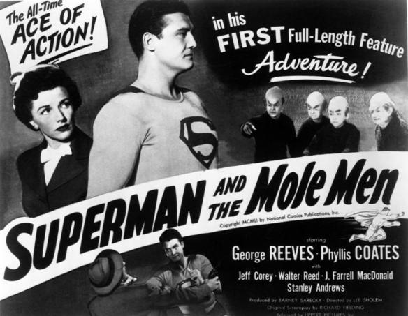 SUPERMAN AND THE MOLE MEN. GEORGE REEVES, PHYLLIS COATES