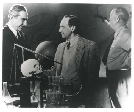 George Weiss on set of Glen Or Glenda with Bela Lugosi