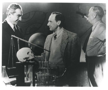 George Weiss on set of Glen Or Glenda with Bela Lugosi