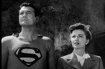 SUPERMAN AND THE MOLE MEN GEORGE REEVES, PHYLLIS COATES