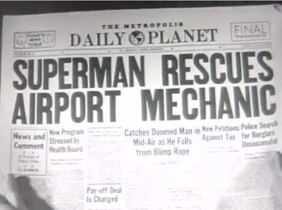 ADVENTURES OF SUPERMAN %22SUPERMAN ON EARTH%22 STILL