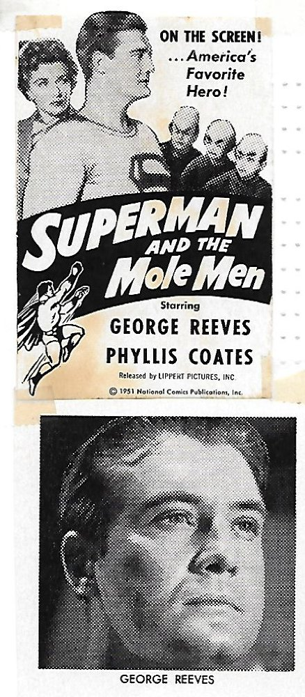 George Reeves and Phyllis Coates in Superman and the Mole-Men (1951)