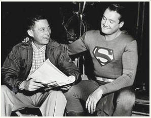 George Reeves behind scenes