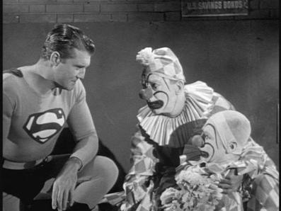 Superman and clown