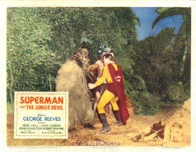 Superman and the jungle Devil lobby card