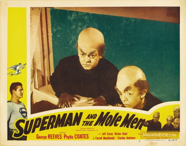 Superman and the mole men lobby card 1951