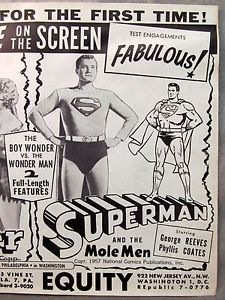 Superman and the Mole Men news ad