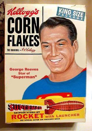 THE ADVENTURES OF SUPERMAN KELLOGGS