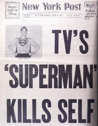 TV'S SUPERMAN KILLS SELF