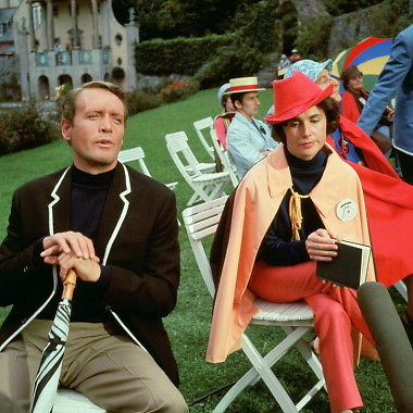The Prisoner %22Arrival%22 Patrick McGoohan and Virginia Maskell