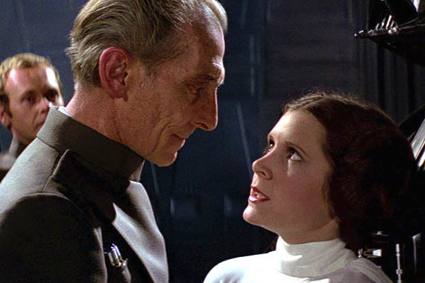 star-wars-1977-peter-cushing-and-carrie-fisher