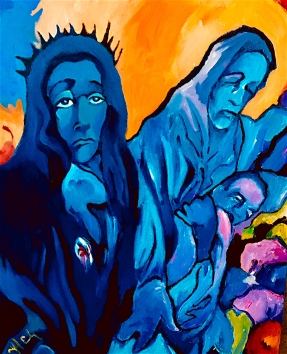 Blue Madonna and the Holy Innocents ©2018 Alfred Eaker
