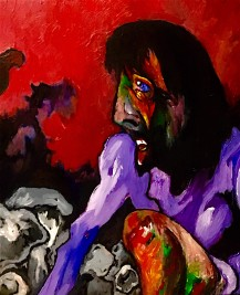 Christ falls for the first time © 2019, Alfred Eaker