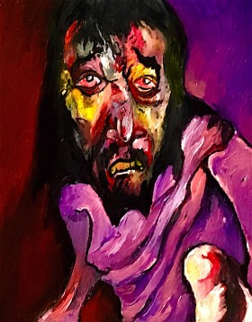 Christ falls for the second time © 2019, Alfred Eaker