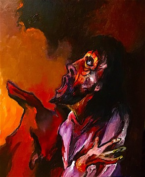 Christ falls for the third time ©2019, Alfred Eaker